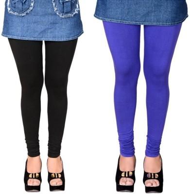 KANNAN Women's Black, Dark Blue Leggings
