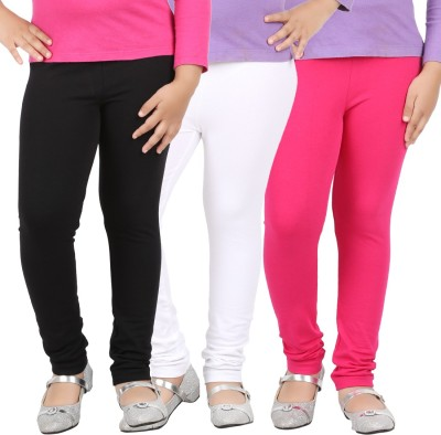 Avarnas Girl's White, Pink, Black Leggings