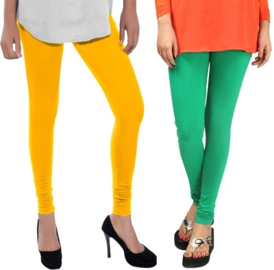 Sampoorna Collection Women's Yellow, Green Leggings