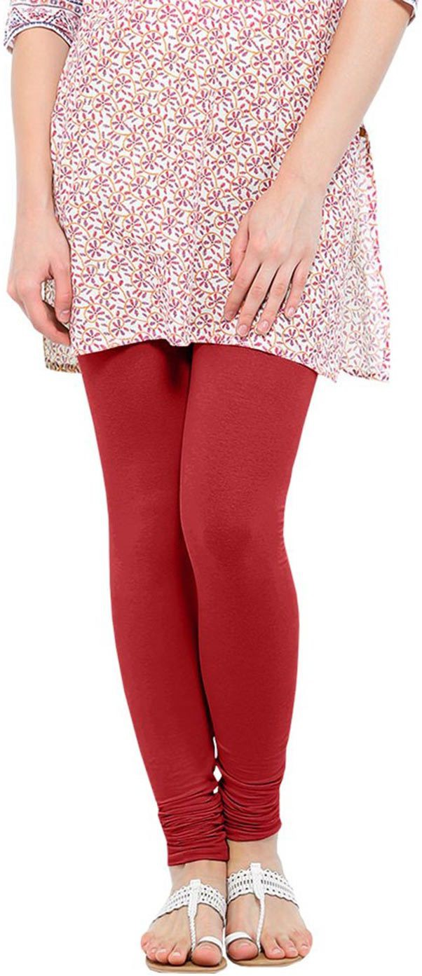 Linking Threads Womens Red Leggings