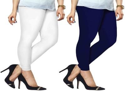 ambey shree trendz Women,s White, Blue Leggings