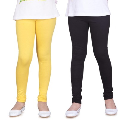 Sini Mini Girl's Yellow, Black Leggings