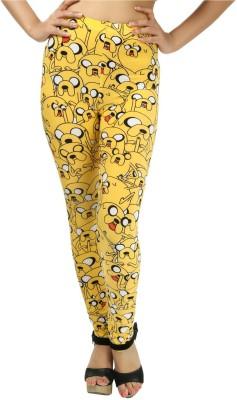 Glam Quotient Women's Yellow Leggings