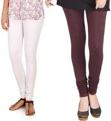 WellFitLook Women's White, Brown Leggings