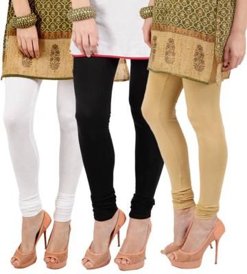 Roma Creation Women's Black, White, Beige Leggings