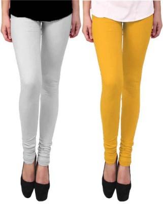 Escocer Women's White, Beige Leggings