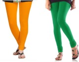StudioRavel Women's Yellow, Green Leggin...