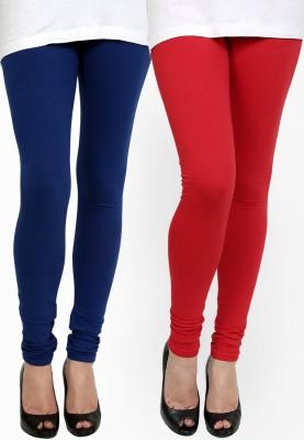 Addline Women's Blue, Red Leggings