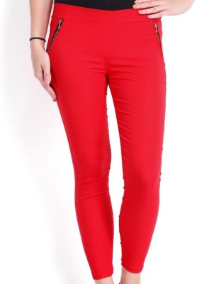 TouchMe Women's Red Jeggings