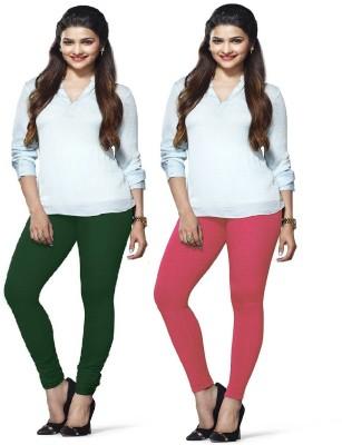 Amul Florio Women's Green, Pink Leggings
