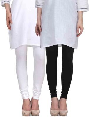 Desi Duos Women's White, Black Leggings