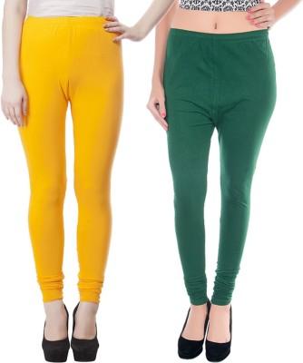 JUST CLIKK Women's Yellow, Green Leggings