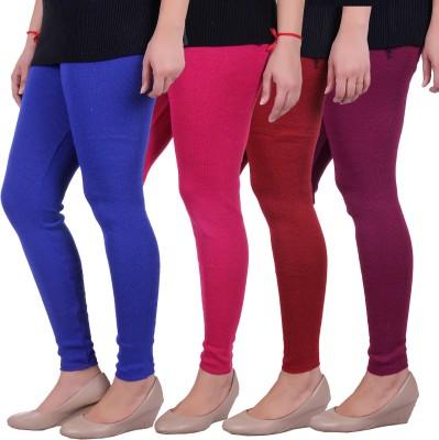 Sellsy Women's Blue, Pink, Maroon, Purple Leggings