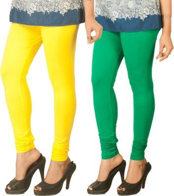 Berries Women's Yellow, Green Leggings