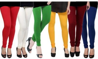 Fashion Zilla Women's Red, White, Green, Yellow, Maroon, Blue Leggings