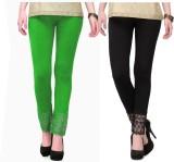 RobinRomeo Women's Black, Green Leggings...