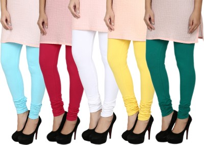Fizzaro Women's Dark Green, Blue, White, Red, Yellow Leggings
