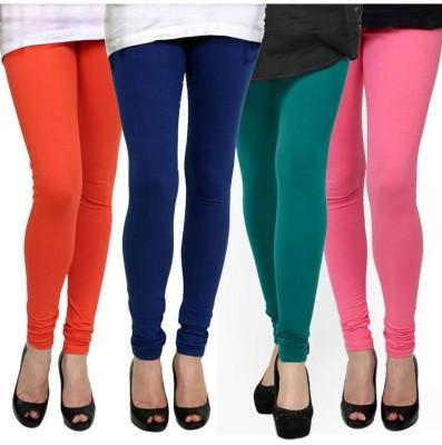 Fashion Zilla Women's Orange, Blue, Purple, Pink Leggings