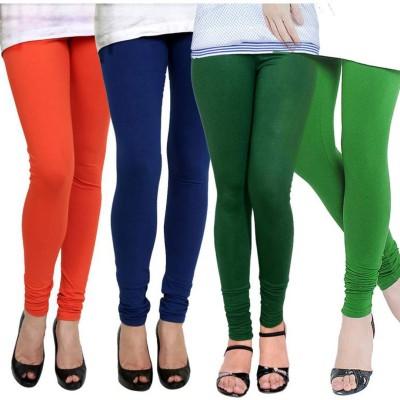 Fashion Zilla Women's Orange, Blue, Dark Green, Green Leggings