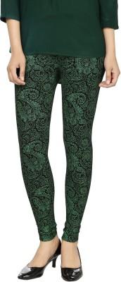 desistyle Women's Black, Green Leggings