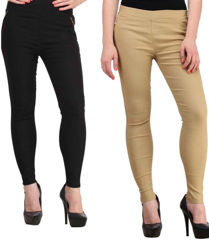 Hardys Women's Multicolor Jeggings(Pack of 2)
