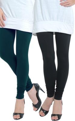 Tulsattva Women's Dark Green, Black Leggings