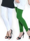 Umesh Fashion Women's White, Green Leggi...