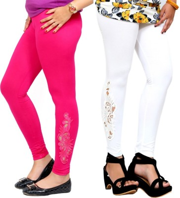 By The Way Women's Pink, White Leggings