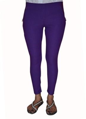 Back Eye Women's Purple Jeggings