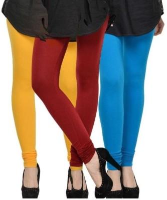 NOVA TRENDZZ Women's Maroon, Yellow, Blue Leggings
