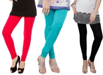 Prekrasna Women,s Red, Light Blue, Black Leggings