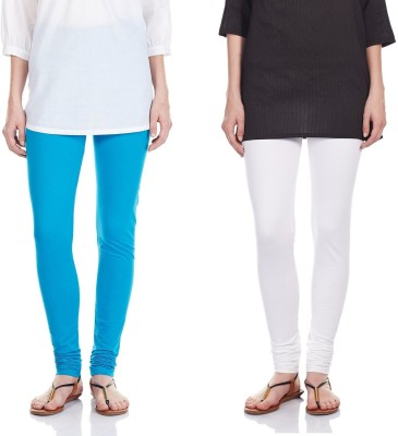 SRS Women's Light Blue, White Leggings