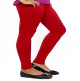 Jitesh Emporium Women's Red Leggings