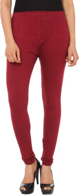 Gudluk Women's Maroon Leggings