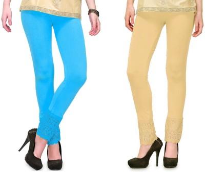RobinRomeo Women's Beige, Blue Leggings