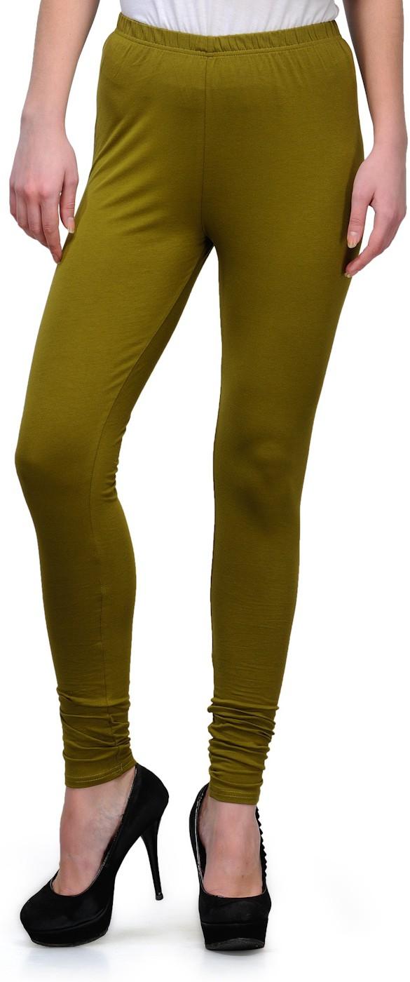 Ffu Womens Dark Green Leggings