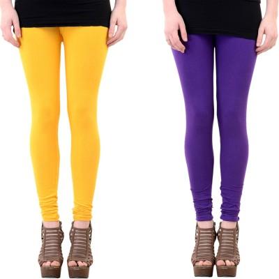 Mynte Women's Purple, Yellow Leggings