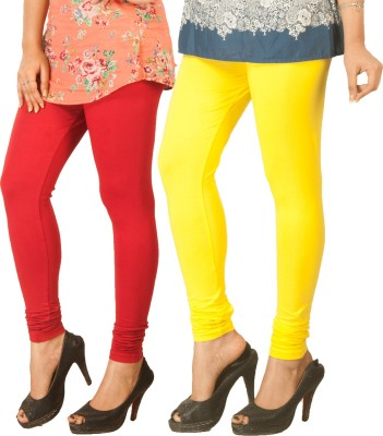 Berries Women's Red, Yellow Leggings