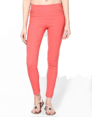 PINK SISLY Women's Orange Jeggings