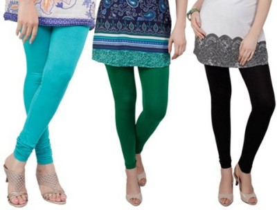 Prekrasna Women,s Light Blue, Green, Black Leggings