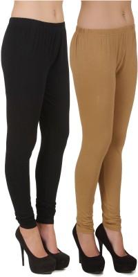 Stylishbae Women's Black, Beige Leggings