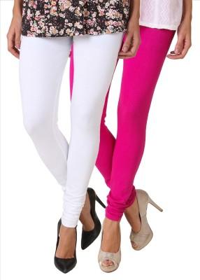 Fasense Women's White, Pink Leggings