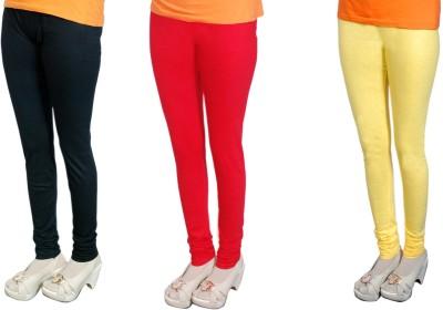 Radhika Garments Women's Black, Red, Yellow Leggings