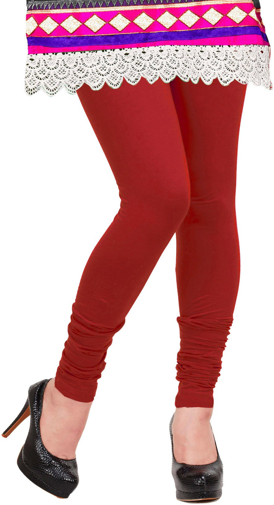 Khushali Womens Red Leggings