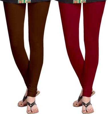 Roshni Creations Women's Brown, Red Leggings