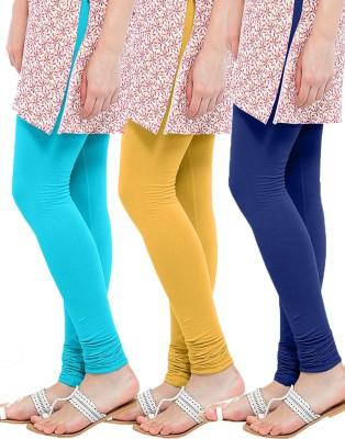 WellFitLook Women's Blue, Yellow, Blue Leggings