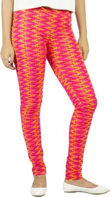 E-Wa Women's Pink, Yellow Leggings