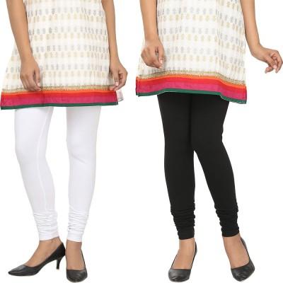 Agrima Fashion Women's White, Black Leggings