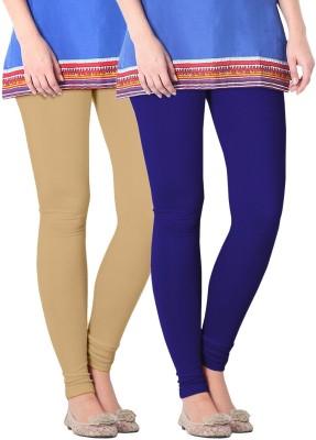 Nice Fit Women's Purple, Beige Leggings