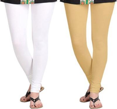 shivam Garments Women's White, Beige Leggings